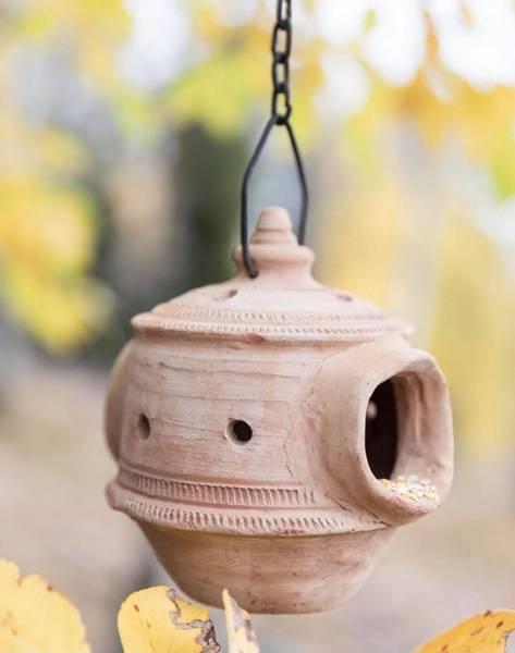 Bilde av Fuglematere i terracotta, lys