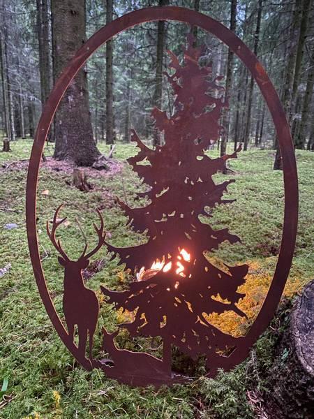 Skoglandskap stående